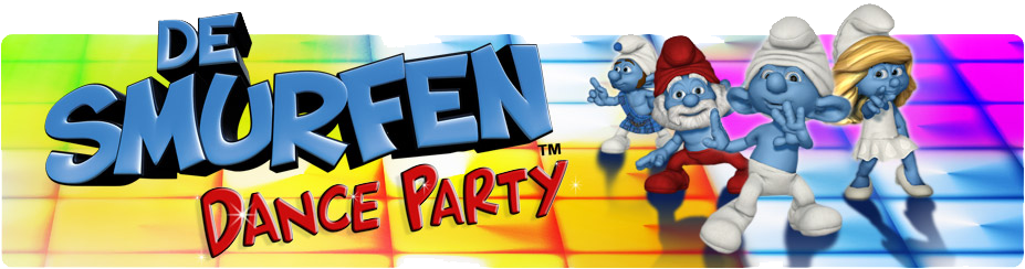 Banner De Smurfen Dance Party