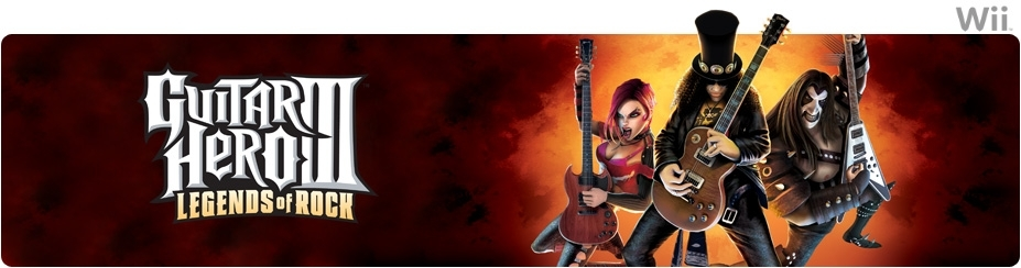 Banner Guitar Hero III Legends of Rock