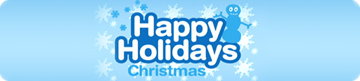 Banner Happy Holidays Christmas