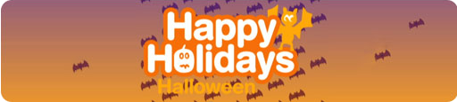 Banner Happy Holidays Halloween