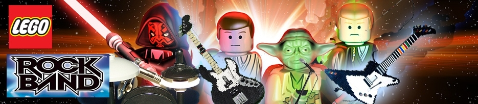 Banner LEGO Rock Band