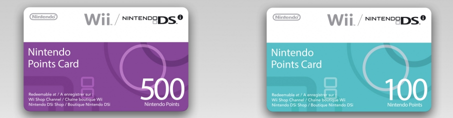 Banner Nintendo Points Card