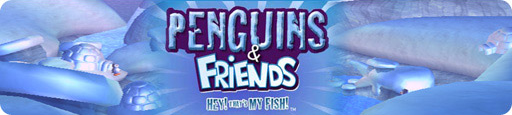 Banner Penguins and Friends Hey Thats My Fish