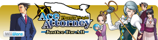 Banner Phoenix Wright Ace Attorney Justice for All
