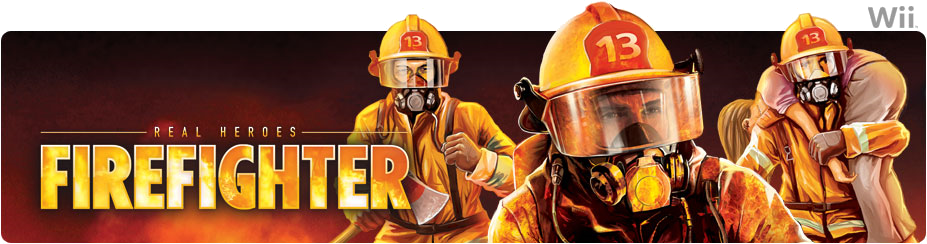 Banner Real Heroes Firefighter