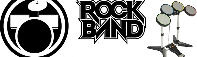 Banner Rock Band Drums