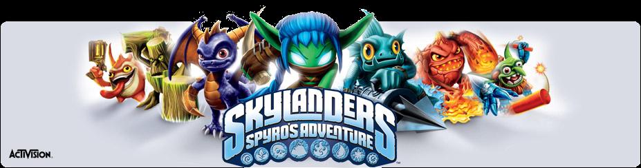 Skylanders Spyro's Adventure - Wii All in 1! | 927 x 244 png 885kB