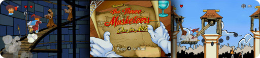 Banner The Three Musketeers One for all