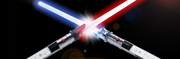 Banner Thrustmaster Glow Saber Duo Pack