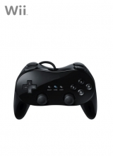Classic Controller Pro Second Party Zwart voor Nintendo Wii