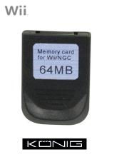 Konig Memory Card voor Nintendo Wii