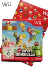 /New Super Mario Bros Wii in Karton voor Nintendo Wii