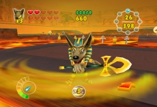Review Anubis II: Vooral de achtergrond en de lava zien er héél mooi uit.