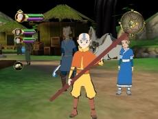 Review Avatar: De Brandende Aarde: De basispersonages zijn Aang, Sokka en Katara.