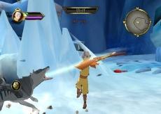 Review Avatar: De Legende van Aang: Een voorbeeld van een basis-aanval van Aang.