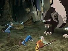 Review Avatar: De Legende van Aang: Aang en zijn team tegen een van de eindbazen.