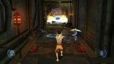Review Avatar: De Legende van Aang - De Vuurmeester: Geholpen door je huisdier Momo kun je met water het vuur doven met de B-knop.