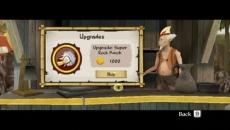 Review Avatar: De Legende van Aang - De Vuurmeester: Op Sintel eiland kun je onder andere upgrades kopen met je verzamelde geld.
