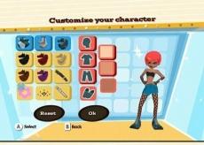 Review Boogie: Je kan je personage aanpassen, met de munten die je hebt verdient bij het zingen en dansen.