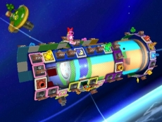 Review Boom Street: Één van de meest interessante spellocaties is het <a href = https://www.mariowii.nl/wii_spel_info.php?Nintendo=Super_Mario_Galaxy>Mario Galaxy</a> spelbord, die is namelijk driedimensionaal!