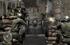 Review Call of Duty 3: Je kan achter een machine geweer kruipen en dan je missies volbrengen.
