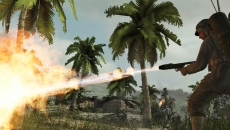 Review Call of Duty: World at War: De vlammenwerper is speelbaar in de single- én multiplayer.