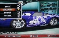 Review Cars Race-O-Rama: 'Pimp your ride' in de garage met vrijgespeelde onderdelen.
