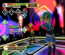 Review Dance Dance Revolution Hottest Party 2: Als de handen bij de pijlen komen moet je schudden met de remote of de <a href = https://www.mariowii.nl/wii_spel_info.php?Nintendo=Wii_Nunchuk>nunchuck</a>