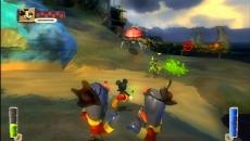 Review Epic Mickey: Zelfs de stranden van Wasteland zitten vol gevaarlijke vergeten wezens.