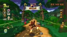 Review Donkey Kong Jet Race: Scheur met je jetpack over kleurrijke parcours.