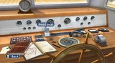 Review Endless Ocean: Op de boot krijg je door middel van emails nieuwe opdrachten.