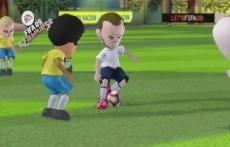 Review FIFA 09 All-Play: Zo zien de spelers eruit met een Mii-Wedstrijd. Ze lijken wel, hè?
