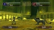 Review Fire Emblem: Radiant Dawn: De gevechten vinden plaats in een apart schem, weg van het overzichtsscherm.