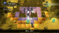 Review Fire Emblem: Radiant Dawn: Het overgrote deel van het spel vindt plaats in dit rastervormige speelveld.