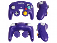Review Gamecube Controller: Een paarse GameCube controller.