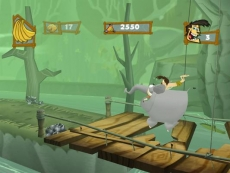 Review George of the Jungle: In 2 levels moet je op racen op Shep de olifant