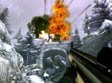 Review GoldenEye 007: De explosies zijn zoals je ziet een goed voorbeeld van de geweldige graphics.