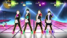 Review Just Dance 4: Een screenshot van de game (One Direction Thats What Makes You Beautiful).