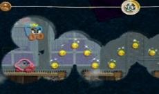 Review Kirby's Epic Yarn: Kirby strijd in de multi-player samen met de Prince Fluff.