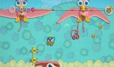 Review Kirby's Epic Yarn: Als bolletje wol kun je slaan, maar ook aan je draadje slingeren.