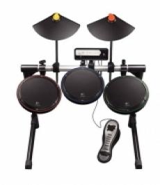Review Logitech Premium Drum Kit: Het drumstel van boven gezien