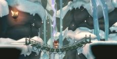 Review LostWinds: Winter of the Melodias: Vooral de bewegende achtergronden maken de winterse landschappen heel mooi.