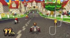Review Mario Kart Wii: Ook de Mii's worden ondersteund, maar deze racer doet het niet zo goed...