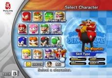 Review Mario & Sonic op de Olympische Spelen: Kies een van de bekende 16 personages, met ieder hun eigen vaardigheden.
