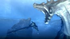 Review Monster Hunter Tri: Ook onderwater kun je op monsters jagen.