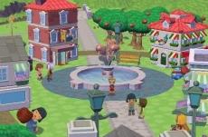Review MySims: Hier zie je een gedeelte van de MySims stad.