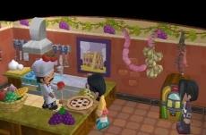 Review MySims: Zodra je een geschikt onderkomen hebt gebouwd opent deze chef een pizaria!