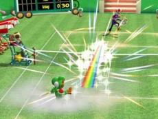 Review New Play Control! Mario Power Tennis: Een belangrijk onderdeel van de wedstrijden zijn speciale schoten, die verschillen per karakter.