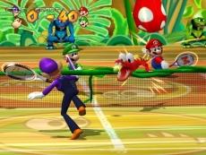Review New Play Control! Mario Power Tennis: Verwacht veel van dit soort banen, met extra hindernissen, zoals deze DK baan met Klaptraps!