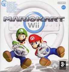 Review Nintendo Wii Wheel: De <a href = http://www.mariowii.nl/wii_spel_info.php?Nintendo=Mario_Kart_Wii>Mario kart wii</a> box set waarin je de game Mario kart wii en een wii wheel krijgt.